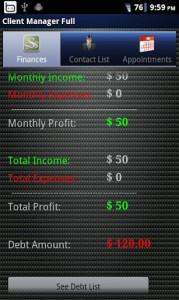 Client Manager Finances
