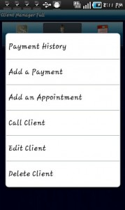 Client Manager Options
