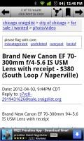 Craigslist EZ Ad Details