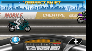 Drag Racing: Bike Edition - Taking mid-race screenshots is tricky!