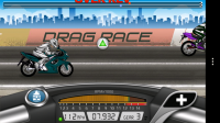 Drag Racing: Bike Edition - Triange colour represents gear change accuracy