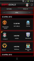 ESPN Goals - Fixtures