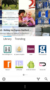 Google Currents - Library front page