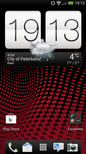 HTC One X - Homescreen