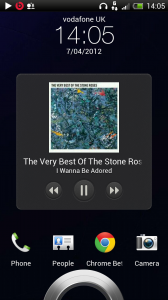 HTC One X - Music player in lockscreen