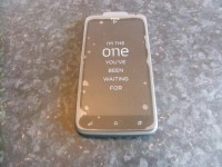 HTC One X - With screen cover