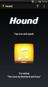 Hound - Main screen