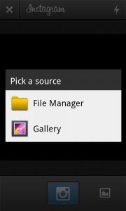 Instagram - Select source