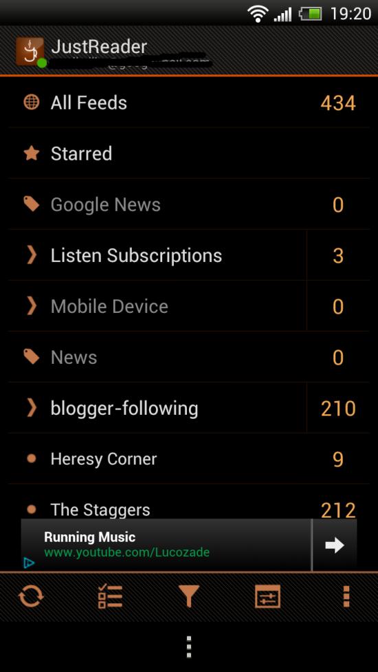 JustReader – beautiful & feature rich RSS Reader… better than Google Reader