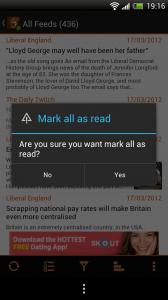 JustReader - Mark all as read
