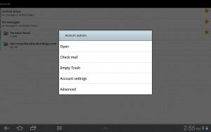 Kaiten Mail Account Options