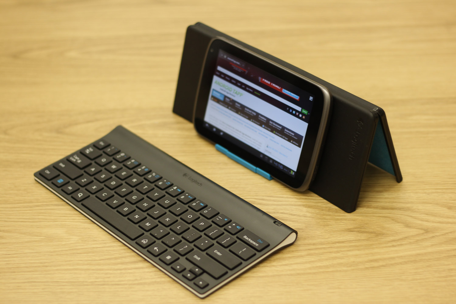 Logitech Bluetooth Keyboard for Android Tablets Review ...