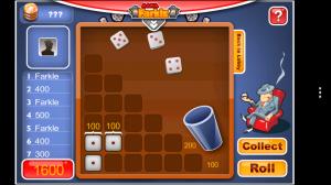 Mafia Farkle - Typical solo gameplay view 3
