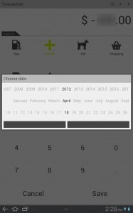 Money Tab Set Date