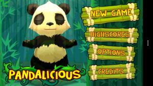 Pandalicious - Main menu