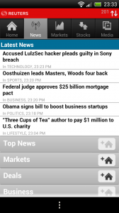 Reuters News Pro - News section