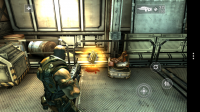 Shadowgun - Collect items like bullets by stepping over them