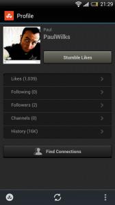 StumbleUpon - Profile