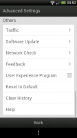 UC Browser - Advanced settings
