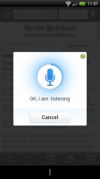 UC Browser - Voice controls