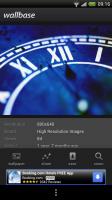 Wallbase HD Wallpapers - Wallpaper view with menu