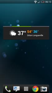 Weatherwise - Small widget