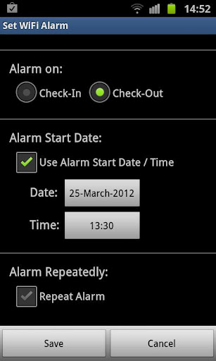 WiFi Alarm – for setting Alarm Reminders based on WiFi- Networks