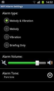 WiFi Alarm Settings