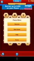 WordsWorth - Pause menu