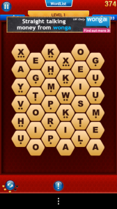 WordsWorth - Typical gameboard