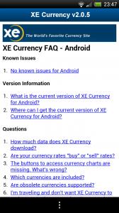 XE Currency - FAQ