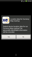XE Currency - Reads location