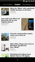Zite - Interest view, Gadgets