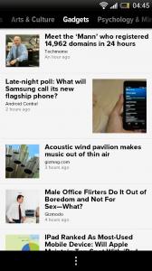 Zite - Interest view, Gadgets