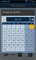 thetrainline - Calendar view
