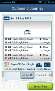 thetrainline - Journey options