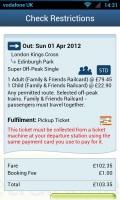 thetrainline - Ticket details