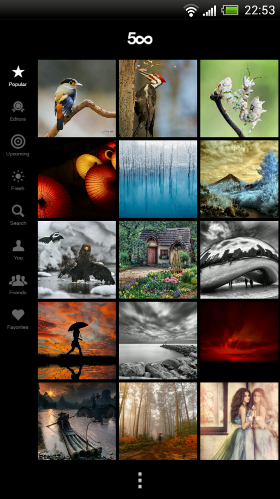 500px – Explore & Discover amazing photography in this Android App
