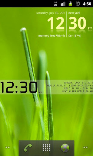 Advanced Clock Widget Pro – incredibly feature-rich, make your own homescreen clock