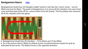 Backgammon GC - Backgammon tutorial
