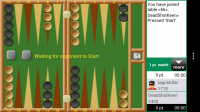 Backgammon GC - Beginning of new game