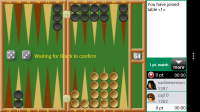 Backgammon GC - Watching game 1