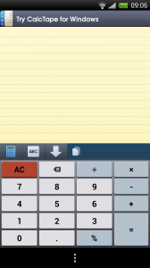 CalcTape Smart Calculator - Blank sum with calculator