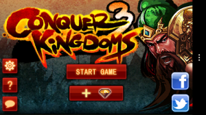 Conquer 3 Kingdoms Deluxe - Main menu