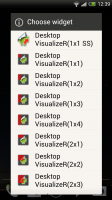 Desktop Visualizer - Huge variety of widget sizes