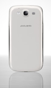 GALAXY S III in White Back View