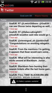 Goal.com - Twitter feeds