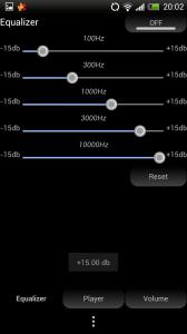 Maple MP3 Player - Equaliser