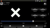 Maple MP3 Player - Looks great in landscape mode