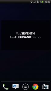 Minimalist Text - 4x2 widget